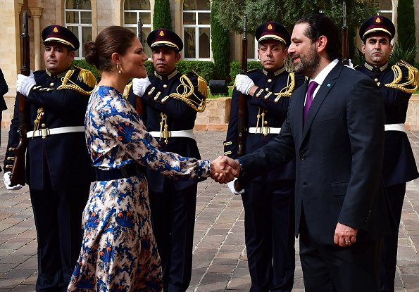 Crown Princess Victoria and Prime Minister Saad Hariri attended the conference Lebanon Multi-Stakeholder SDG Forum at Grand Serail