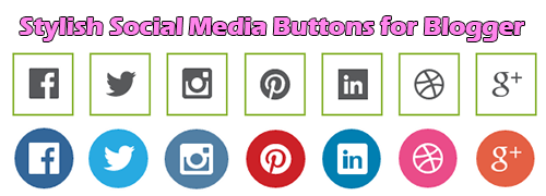 Social Sharing Buttons for Blogger with Hover effect