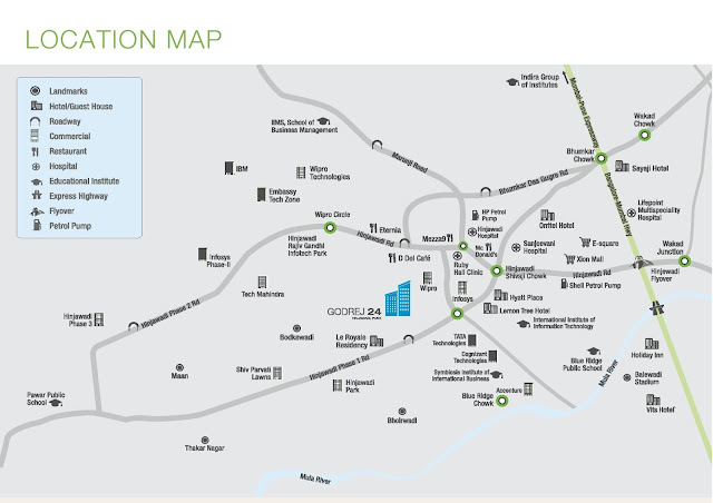 Godrej 24 Hinjewadi Location Map