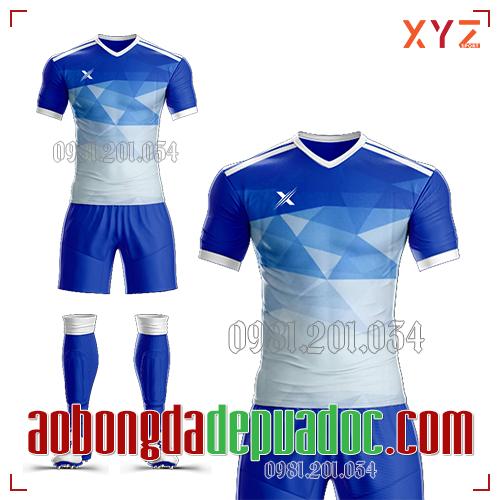 Áo Ko Logo XYZ-01 Màu Xanh Đậm