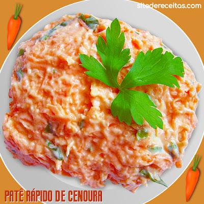 Patê rápido de cenoura