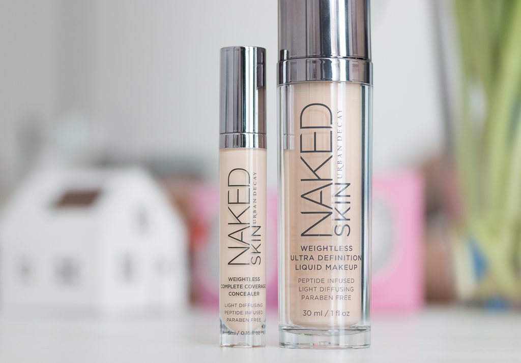 Urban Decay Naked Skin Concealer Light Warm und Foundation 1.0