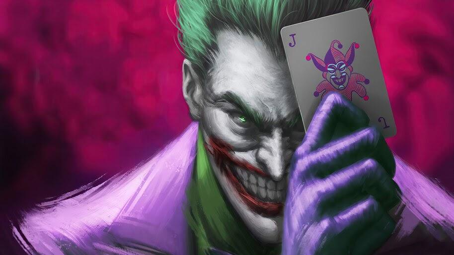 Joker, Card, DC, Comics, Art, 4K, #6.2106