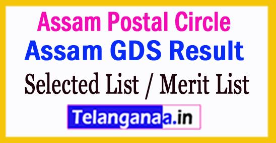 Assam GDS Result 2018 Selected List / Merit List