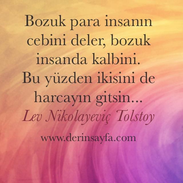 Tolstoy resimli güzel sözler
