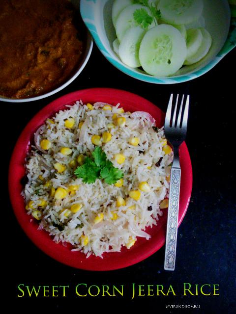Sweet corn Jeera rice