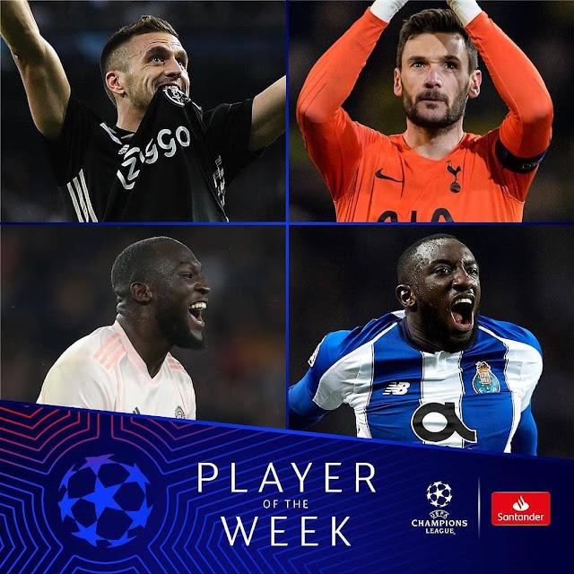 HAWA NDIO WANAOWANIA TUZO YA MCHEZAJI BORA WA WIKI UEFA CHAMPIONS LEAGUE