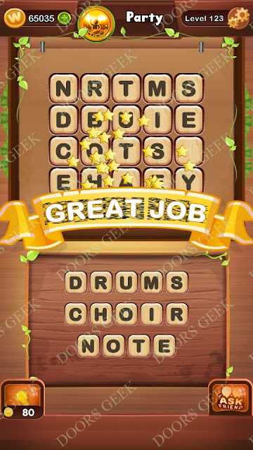 Word Bright Level 123 Answers, Cheats, Solutions, Walkthrough for android, iphone, ipad and ipod