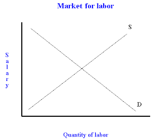 The effect of an income tax on the labor market
