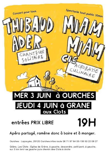 Thibaud Ader , Miam Miam Cie , Ourches