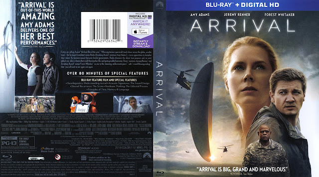 Arrival Bluray Cover