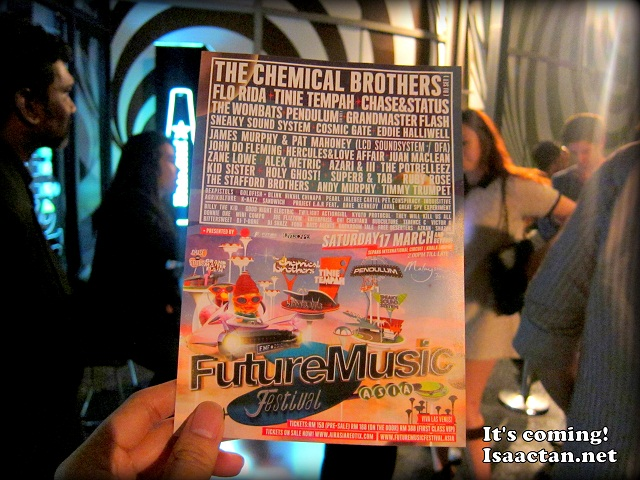 Future Music Festival Asia Pre-Party Vertigo Club