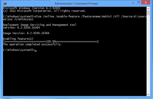 Install .Net2.0 and .Net3.5
