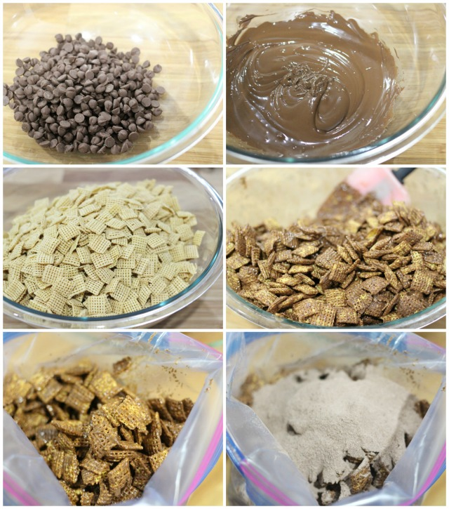 Hot Cocoa Muddy Buddies Recipe - Hot Chocolate Puppy Chow Recipe