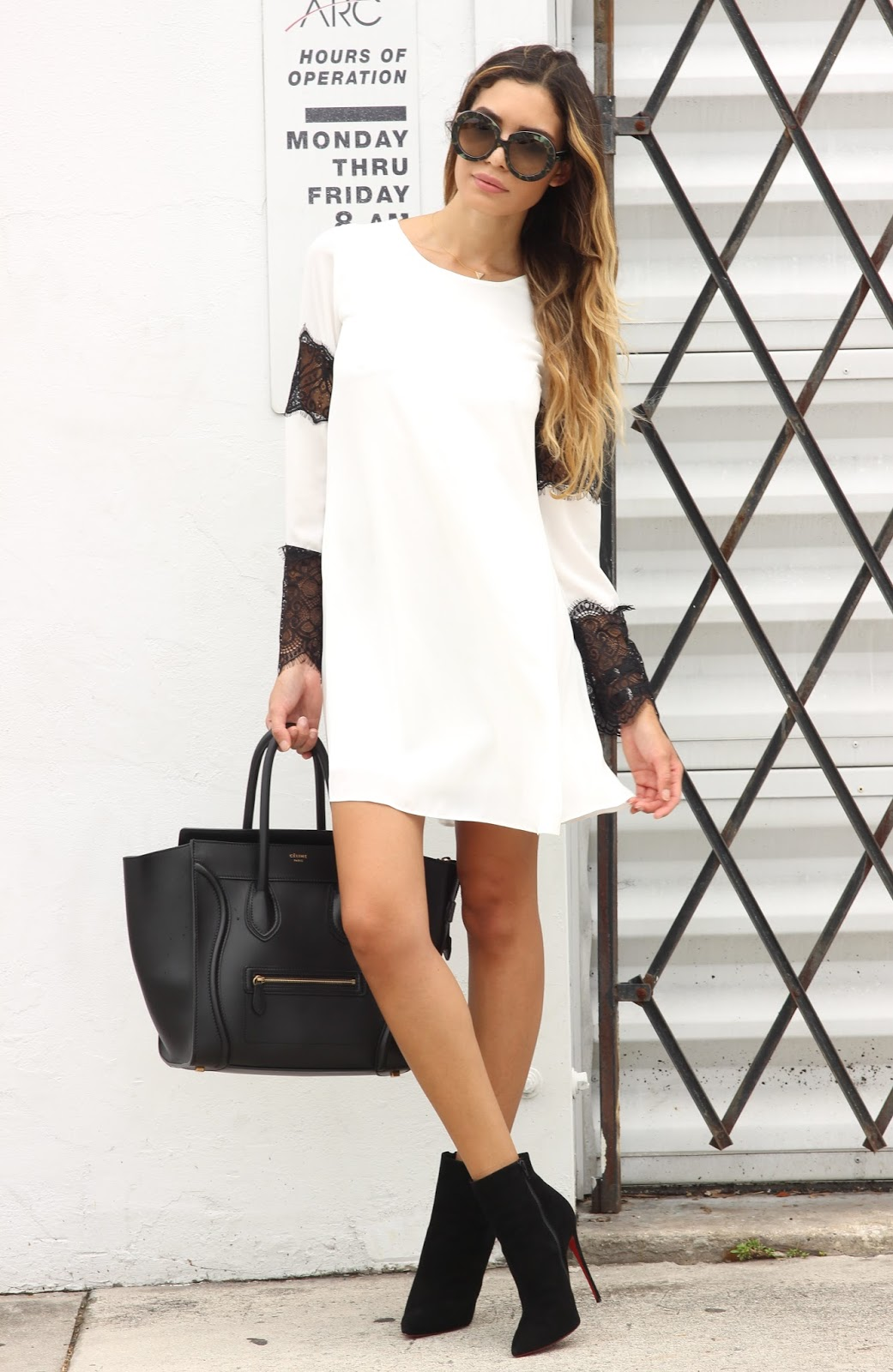 73091f636b8f I paired this Lipsy dress with new Valentino oversized sunglasses