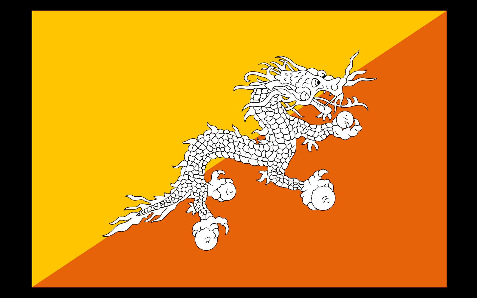 World Flags: Bhutan Flag hd wallpaper
