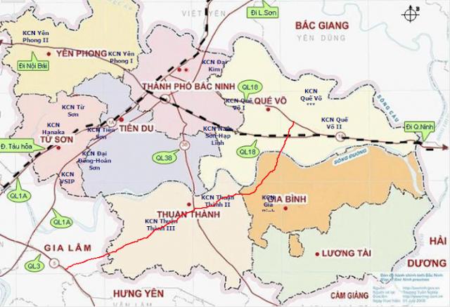 Vị trí khu đô thị Lovera Garden Đồng Kỵ - Từ Sơn