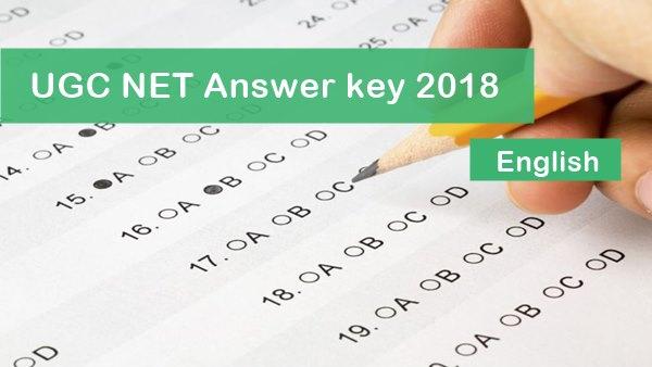UGC NET Answer Key English