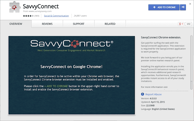 Savvyconnect® chrome extension