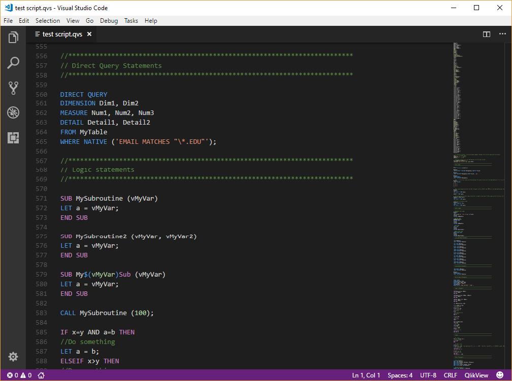 QlikView Addict: Qlik for Visual Studio Code v0 4 0