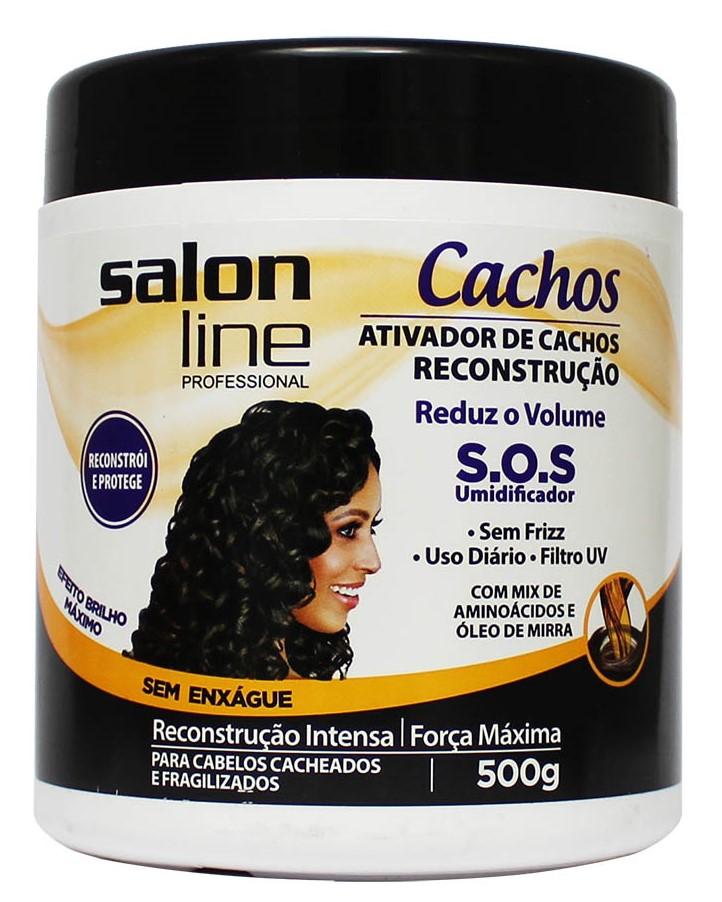 RESENHA: ATIVADOR DE CACHOS RECONSTRUÇÃO SOS SALON LINE - O MELHOR CREME DE PENTEAR