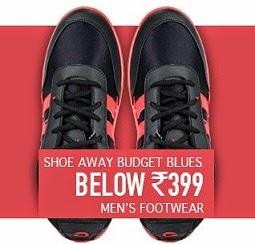 Shoe away Budget Blues: Get Men's Footwear just below Rs.399 Only@ Flipkart