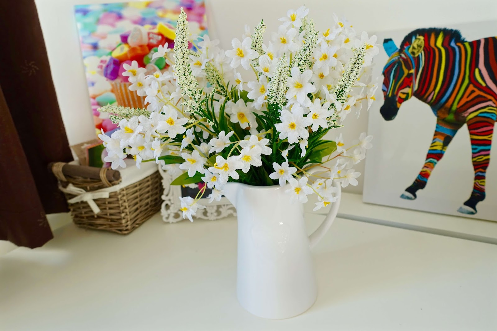 artificial flowers for the home