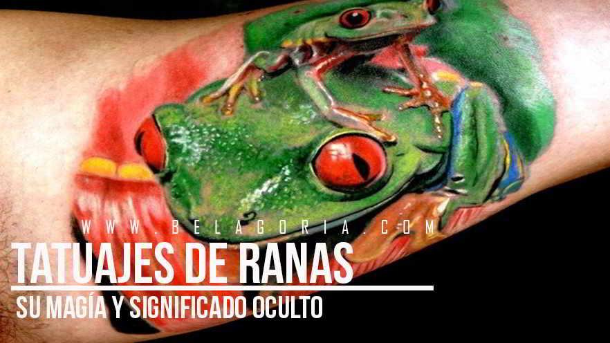 Tatuaje de Rana en el brazo