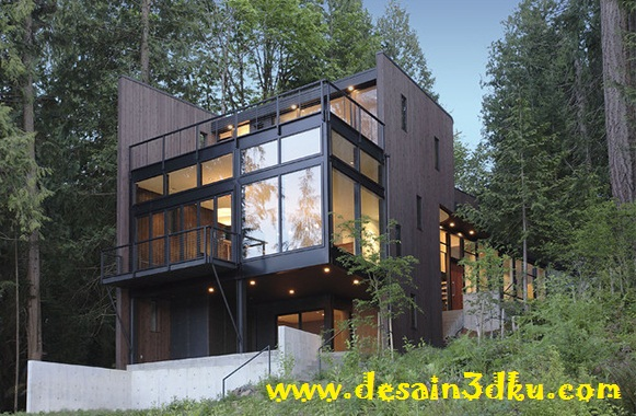 10 Desain Rumah Modern Kontemporer di Bukit Tropis