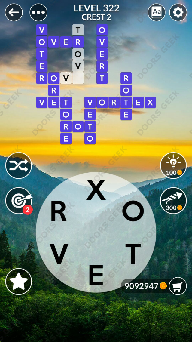 Wordscapes Level 322 Answers Doors Geek