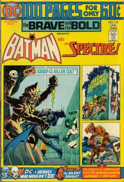 Batman meets the Spectre, Brave and the Bold #116, DC Comics, 100 pages, Jim Aparo