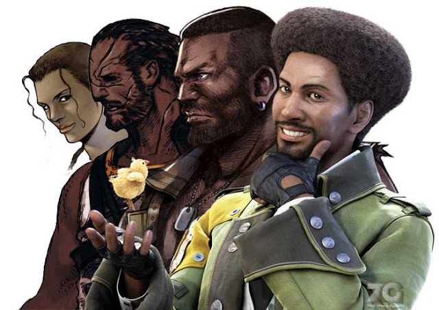 black characters in the final fantasy series thezonegamer