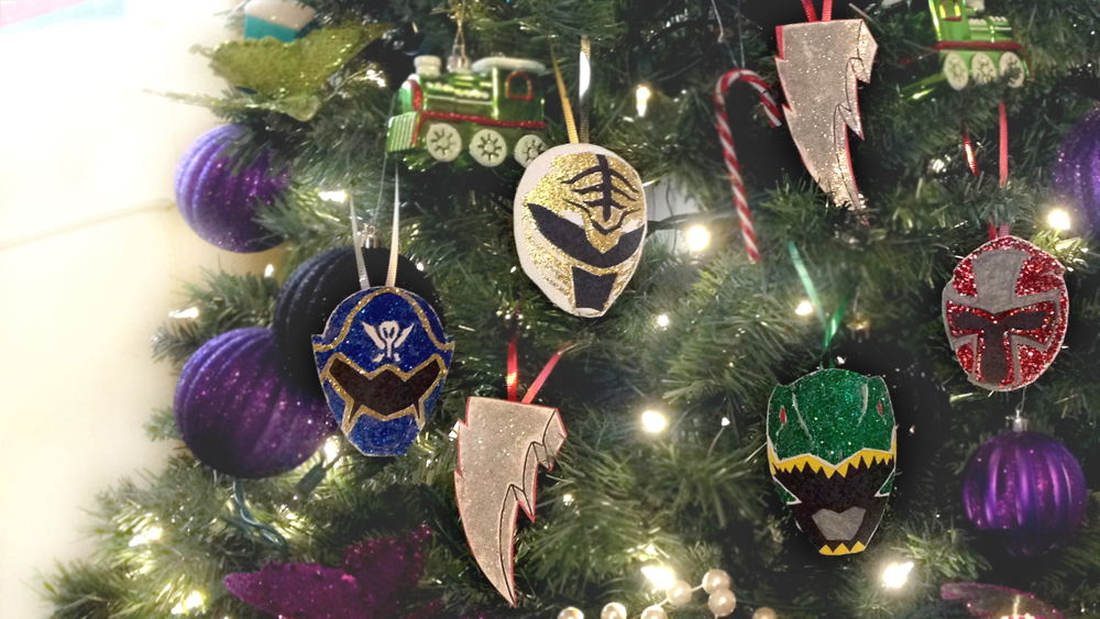 Power Rangers Christmas Tree.Le Blog D Evy Power Rangers Christmas Diy Easy Ornaments