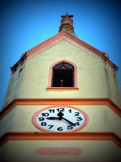 Relógio da Igreja Evangélica de Confissão Luterana de Nova Petrópolis