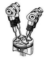 Mesin motor type DOHC