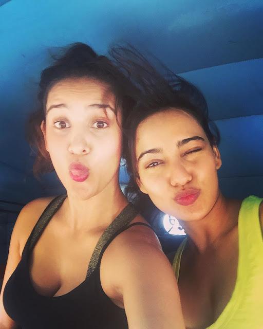 Neha Sharma Share Instagram Photo with Aisha Sharma