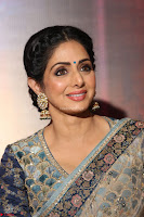 Sri Devi in designer saree stunning beauty at the launch of MOM movie Trailer~  Exclusive 122.JPG