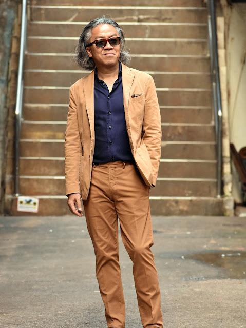 40代のカジュアル スーツスタイル