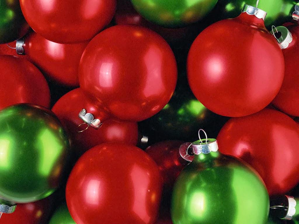Bolas De Navidad Rojas Sobre Fondo Verde: Imagenes Hilandy: Fondo De Pantalla Navidad Bolas Rojas Y