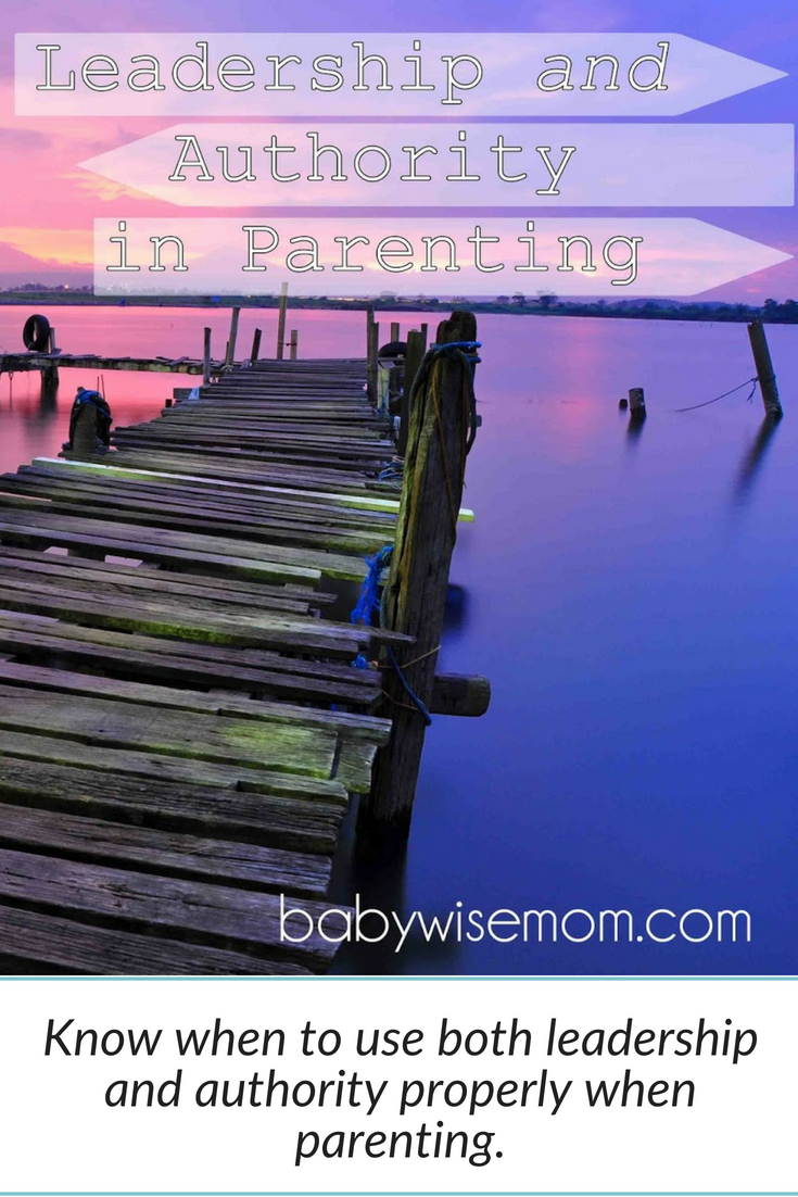 Leadership and Authority in Parenting. When and how to use authority and when to use leadership in parenting. Sometimes you let the child decide and sometimes you decide.