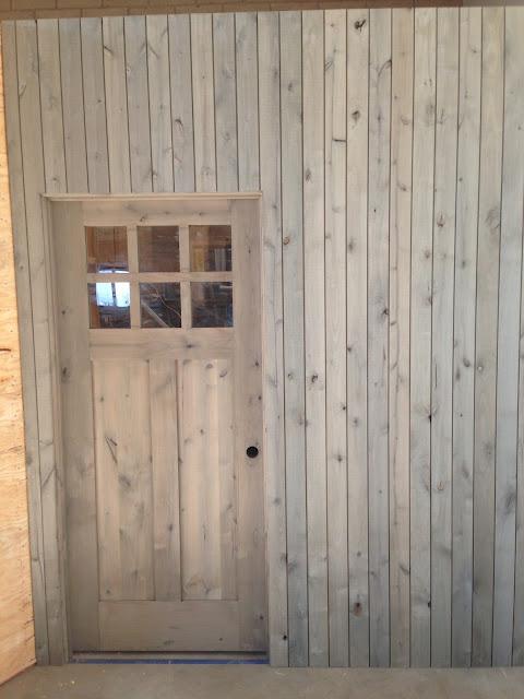 Shiplap Wall with DIY Silver Barnwood using #Weatherwoodstains on #fg2b