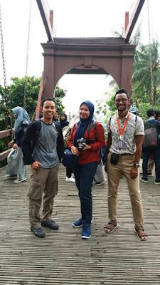 walking tour mtsn4 bersama jakarta good guide di jembatan kota intan