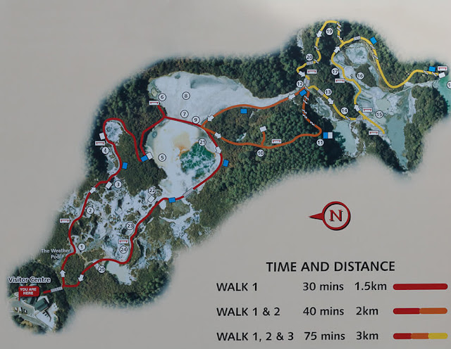 plano Wai O Tapu Thermal Wonderland, Rotorua, Nueva Zelanda