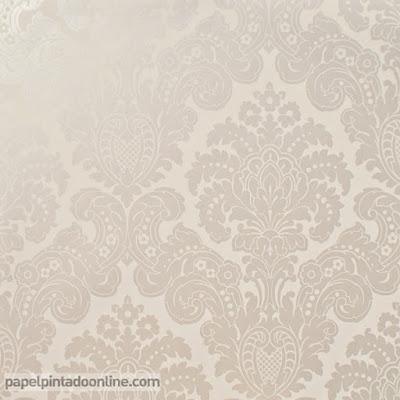Papel Pintado Damasco Beige Perlado Ref. 5288-3