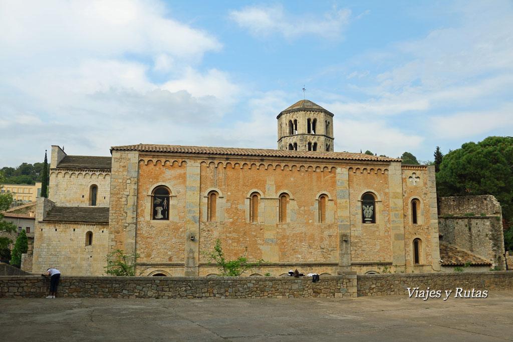 Fachada lateral Monasterio de Sant Pere de Galligants, Girona