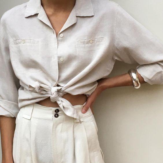 linen white shirt