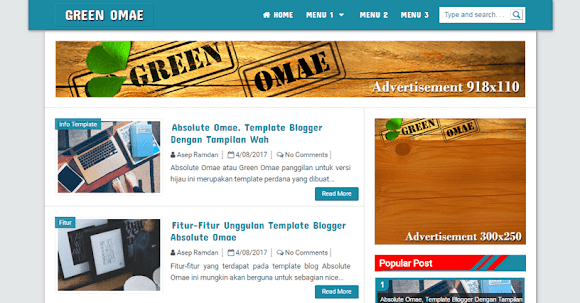 Template Blogger Absolute Omae Blue