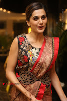 Tapsee Pannu Latest Stills in Red Silk Saree at Anando hma Pre Release Event .COM 0077.JPG