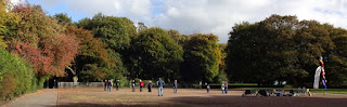 Woodstock Petanque Club players in action on the Alexandra Park terrain in October