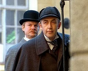 Vasily Livanov and Vitaly Solomin as Sherlock and Holmes and Dr John Watson in the Russian adaptation of The Hound of the Baskervilles